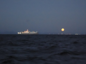 Moon Over Cruise Ship