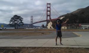 Peter on the bridge