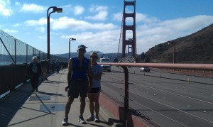 Susan and Peter at the bridge