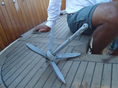 The dinghy anchor