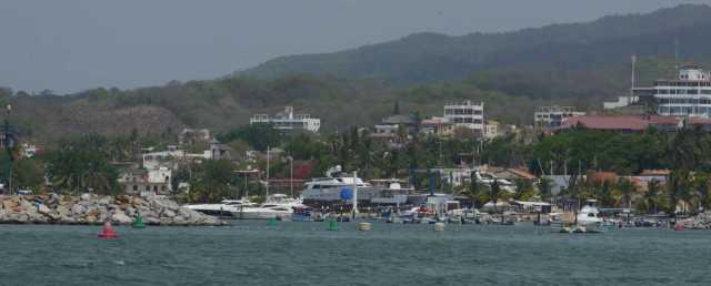 La Cruz Marina from the anchorage