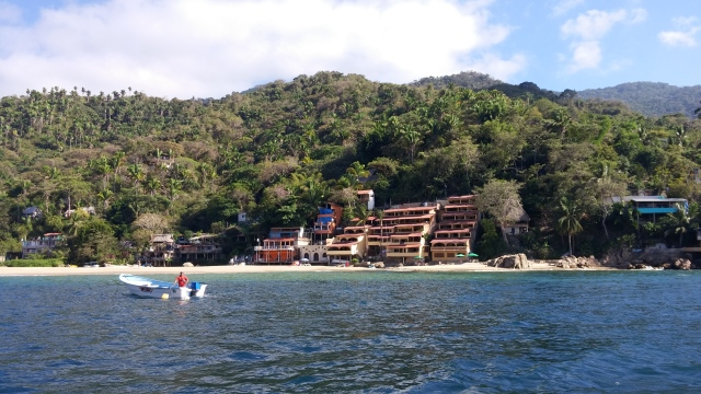 Yelapa and the mooring ball  Photo by Lynda Davis