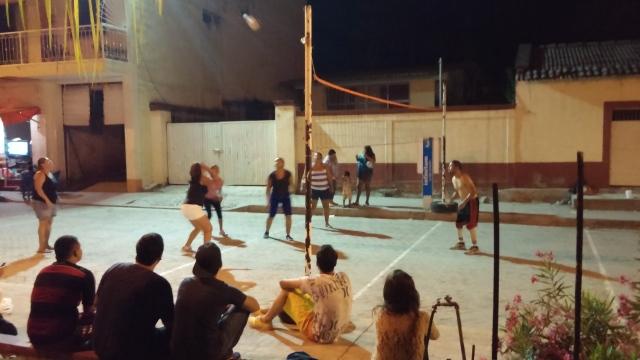 Volleyball in the street Photo by Lynda Davis