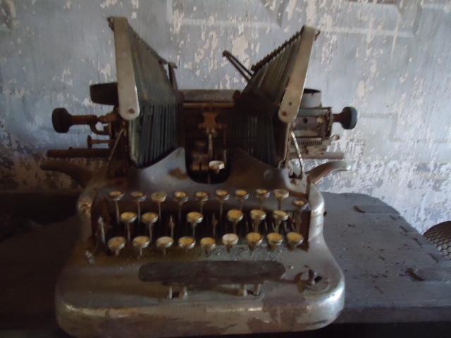 Certainly the oldest typewriter I've ever seen