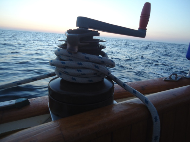 Two speed, self tailing winch