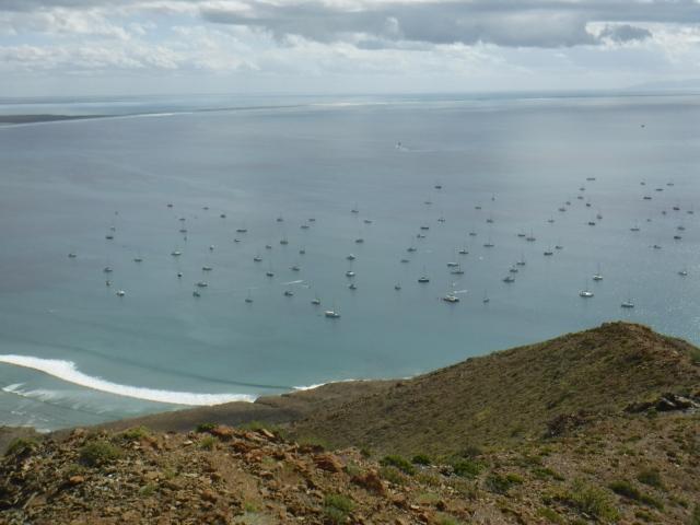 The Ha Ha Fleet Below