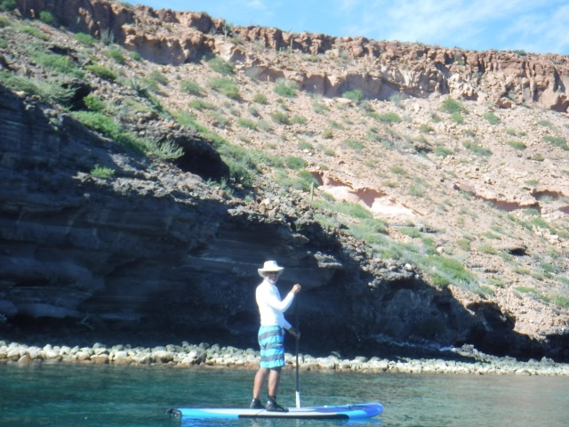 Peter on his SUP